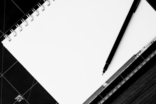 black-and-white-blank-notebook-158829